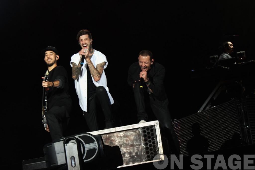 Austin Carlile és a Linkin Park / Rock in Rio USA fesztivál, Las Vegas, 2015. május / Fotó: Pogonyi Nóra