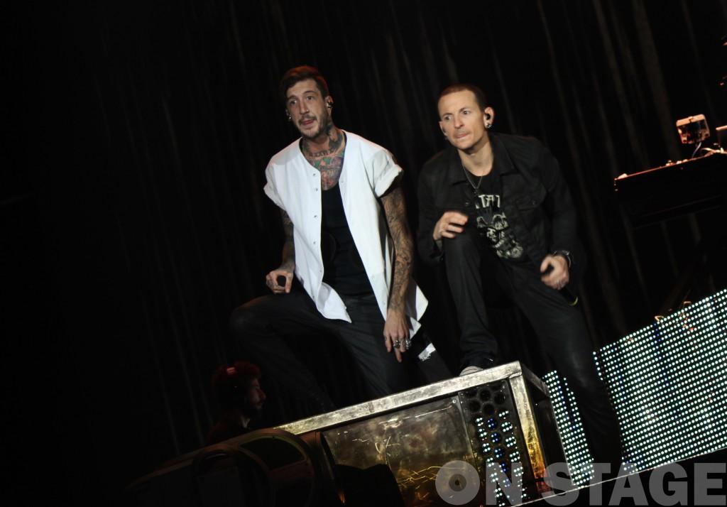 Austin Carlile és Chester Bennington / Rock in Rio USA fesztivál, Las Vegas, 2015. május / Fotó: Pogonyi Nóra