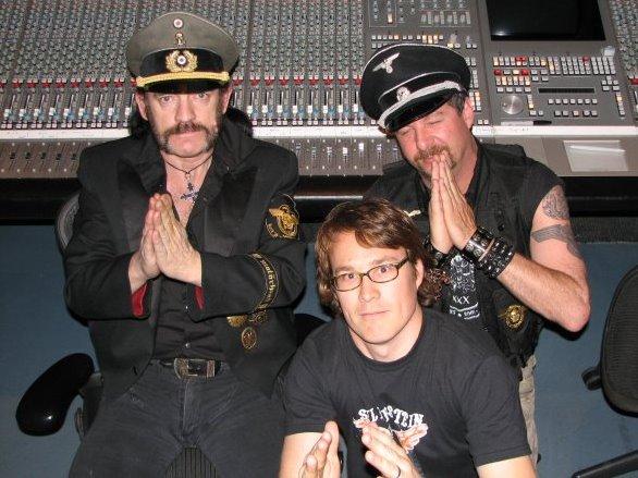 Cameron Webb és Lemmy Kilmister a Kiss of Death keverése közben az Atlantis Stúdióban - Fotó: Facebook