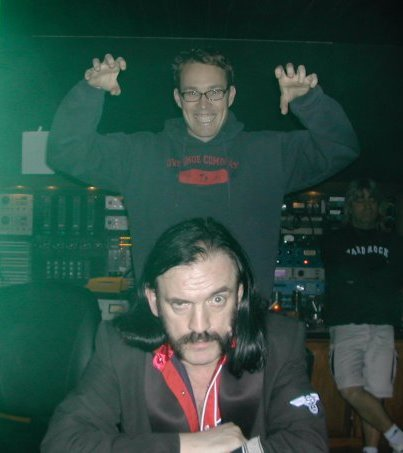 Cameron Webb és Lemmy Kilmister az Inferno című album keverése közben - Fotó: Facebook