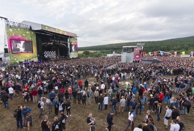 Sopron, 2018. június 28. Közönség a Tankcsapda együttes koncertjén a 26. VOLT Fesztiválon a soproni Lõvér kempingben 2018. június 28-án. MTI Fotó: Nyikos Péter