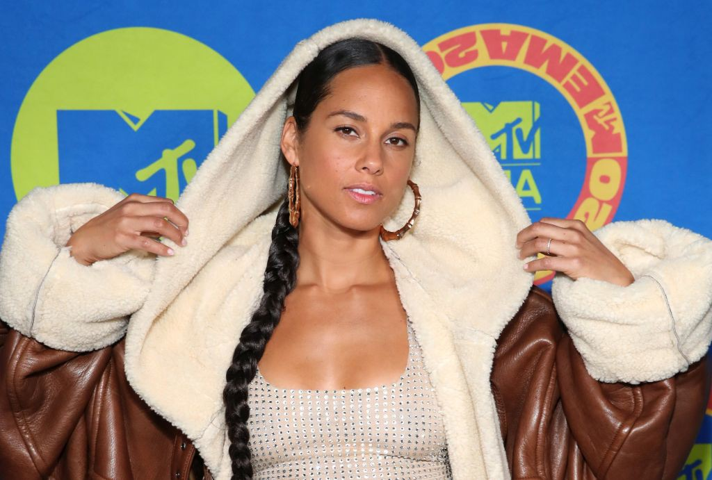 LOS ANGELES, CALIFORNIA - NOVEMBER 01: (EDITORS NOTE: This image has been retouched at the request of Artist's management.) In this image released on November 08, Alicia Keys poses ahead of the MTV EMA's 2020 on November 01, 2020 in Los Angeles, California. The MTV EMA's aired on November 08, 2020. (Photo by Rich Fury/Getty Images for MTV)