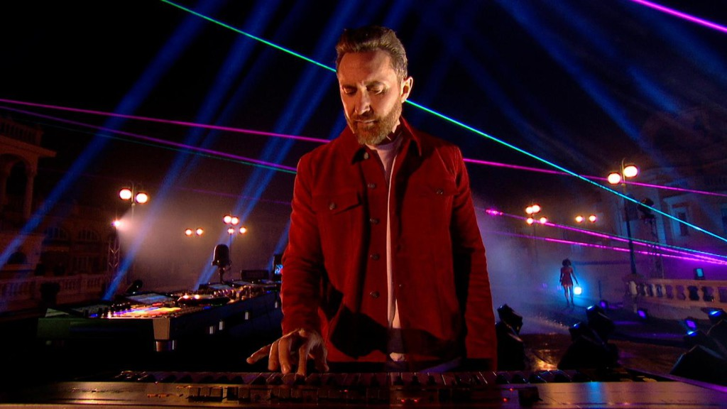 BUDAPEST, HUNGARY - OCTOBER 25: In this screengrab released on November 08, David Guetta performs at the MTV EMA's 2020 on October 25, 2020 in Budapest, Hungary. The 2020 MTV Europe Music Awards aired on November 08. (Courtesy of MTV via Getty Images)