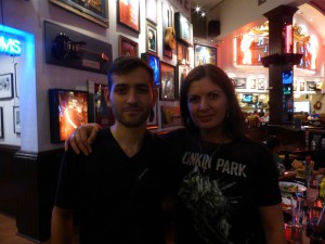 With Lorenzo Errico LPU - Hard Rock Cafe